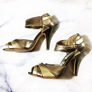 Steve Madden Gold & Bronze Merial High Heels